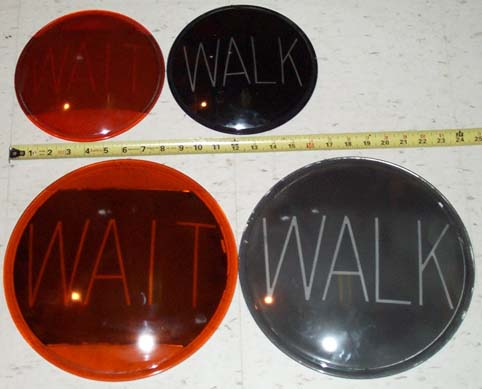 8 inch and 12 inch WAIT WALK lenses