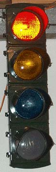 Eaglelux 8 inch signal with glass lenses and reflectors...also known as Eagle Art Deco signal