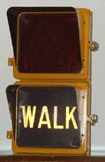 9 inch Aluminum Eagle Pedestrian Signal with Glass Lenses and cutaway visors
