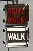 Aluminum Eagle Signal 9 inch Pedestrian Signal with WALK letters in painted stripe